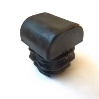 Купить полукруглую пластикувую заглушку сечением 25х25 мм.