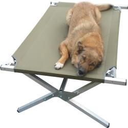 Лежак раскладушка для собаки Брода 100 Хаки